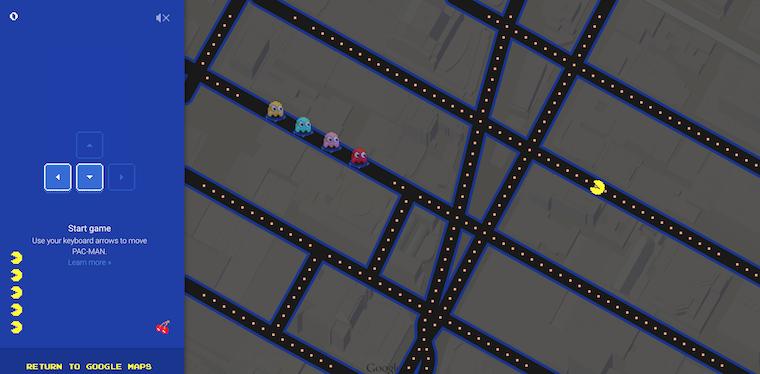 [COOL] Acum poți juca Pac Man în cartierul tău cu Google Maps!